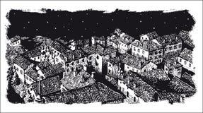 Городок Иллюстрация вектора
