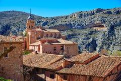 Городок Albarracin средневековый на Теруэль Испании стоковое фото