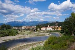Городок Aulla, Lunigiana, Италия Стоковое фото RF