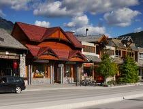 Городок Banff, Альберта Стоковые Фотографии RF
