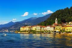 Городок Bellagio, ландшафт района озера Como Италия, европа стоковые фотографии rf