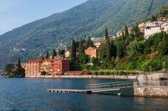 Городок Bellano побережья на озере Como Стоковая Фотография
