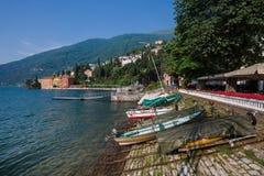 Городок Bellano побережья на озере Como Стоковое Изображение