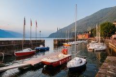 Городок Bellano побережья на озере Como Стоковые Изображения