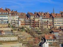 Городок Bern старый в зиме Стоковая Фотография RF