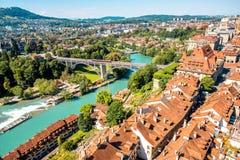 Городок Bern старый в Швейцарии Стоковое Изображение