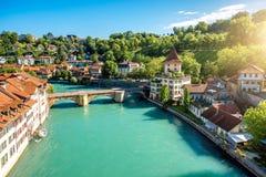 Городок Bern старый в Швейцарии Стоковое фото RF