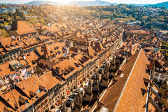 Городок Bern старый в Швейцарии Стоковые Изображения