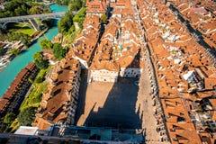Городок Bern старый в Швейцарии Стоковые Фото
