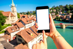Городок Bern старый в Швейцарии Стоковая Фотография RF