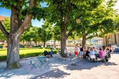 Городок Bern старый в Швейцарии Стоковые Фотографии RF