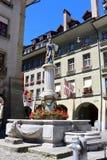 городок bern старый Швейцарии Фонтан Моисея Стоковые Изображения RF