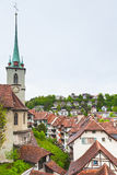 Городок Bern старый, Швейцария Городской пейзаж Стоковые Фотографии RF