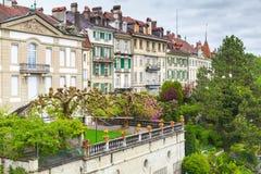 Городок Bern старый, Швейцария Ландшафт Стоковое Изображение