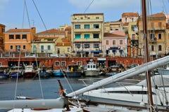 Городок Bosa, Сардиния, Италия Стоковая Фотография RF