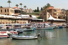 Городок Byblos и гавань, Ливан Стоковое Изображение