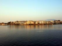 городок corfu старый стоковая фотография