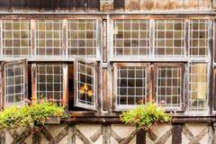 Городок Dinan, Бретани, Франции Стоковое Изображение RF