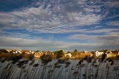 Городок Diss Nofolk и взгляд простого стоковое фото rf