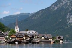 Городок Hallstatt наследия, Австрия Стоковая Фотография