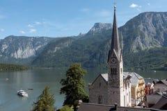 Городок Hallstatt наследия, Австрия Стоковое Изображение