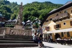 Городок Hallstatt наследия, Австрия Стоковые Изображения RF