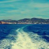 Городок Ibiza, Балеарские острова, Испания Стоковые Изображения RF