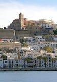 Городок Ibiza Eivissa Стоковое Изображение RF