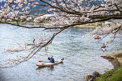 Городок Kaizu Makino Takashima, префектуры Shiga Стоковое Изображение