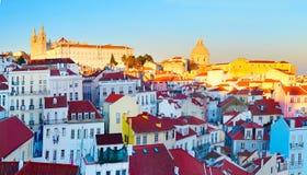 городок lisbon старый Португалии Стоковая Фотография RF