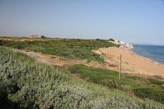 Городок Marinella рядом с Selinunte стоковое изображение rf
