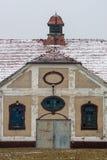 Городок Mazury Ostroda старый в Польше Стоковое Изображение RF