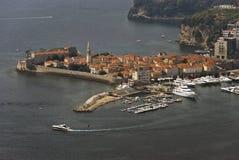 городок montenegro budva старый стоковая фотография