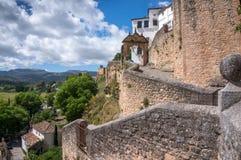 Городок Moorish Ronda стоковое изображение