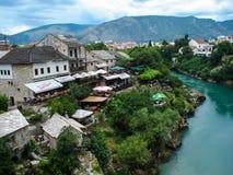 городок mostar старый Стоковая Фотография RF