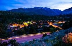 Городок Mount Elbert и горы горячих источников Стоковая Фотография