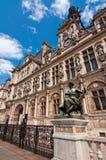 городок paris залы Стоковое Изображение