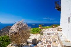 Городок Plaka, Milos остров, Киклады, эгейские, Греция Стоковое Фото