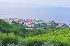 Городок Podstrana, Хорватия Стоковое Изображение RF