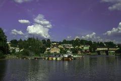 Городок Porvoo старый в Финляндии Стоковая Фотография RF