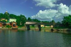 Городок Porvoo старый в Финляндии Стоковые Фотографии RF