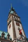 городок rathaus гамбургера hamburg здание муниципалитет Стоковые Фотографии RF