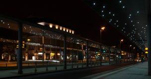 городок riga ночи latvia города стоковые изображения rf