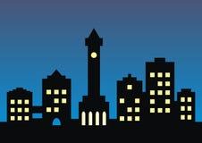 городок riga ночи latvia города Стоковое Изображение
