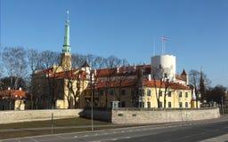 городок riga резиденции президента latvia замока старый Стоковые Фото