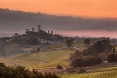 Городок San Gimignano, Италия Стоковая Фотография RF