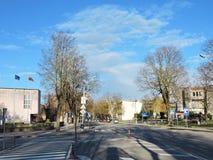 Городок Silute, Литва Стоковая Фотография