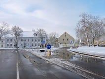 Городок Silute, Литва Стоковое Фото