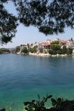 Городок Skiathos Стоковое Изображение