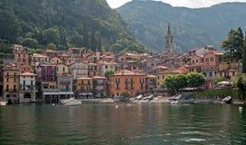 Городок Varena на озере Como Стоковые Фото